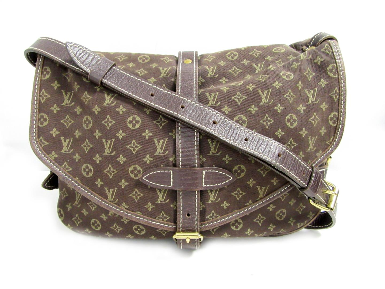 3ced80eb7da0 Authentic LOUIS VUITTON Saumur 30 Shoulder Bag M95227 Monogram Minilan Ebene