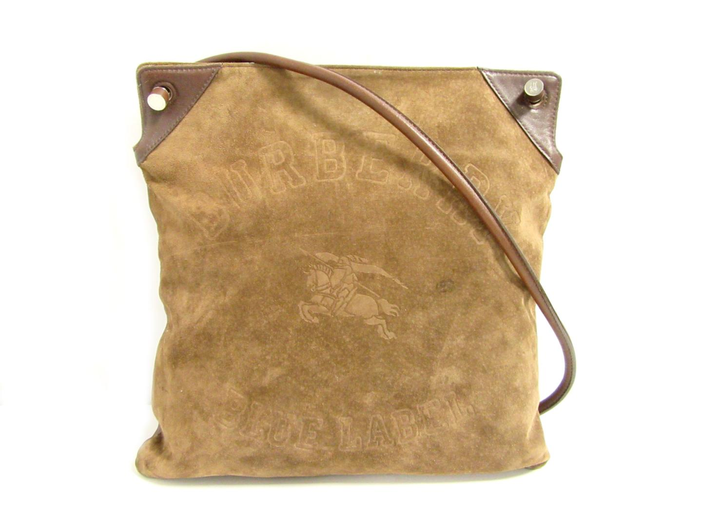 b69a93830856 BRANDOFF  Authentic BURBERRY Shoulder Bag (calf) X suede Brown ...