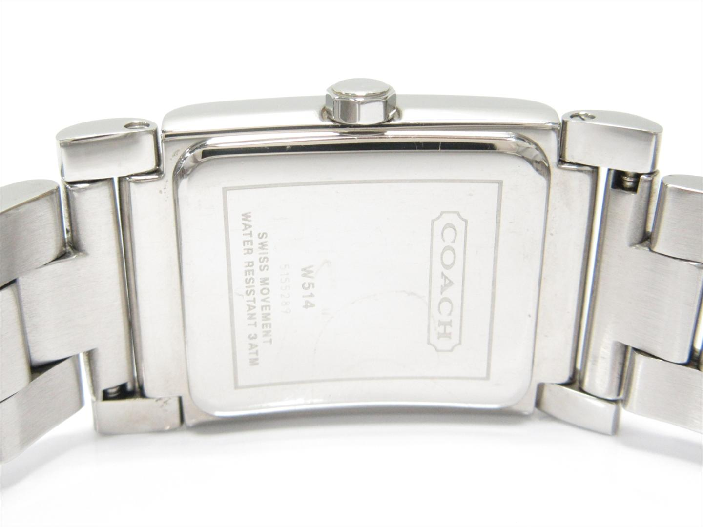 Brandoff Authentic Coach Watch Stainless Steel Ss W514 Rubber