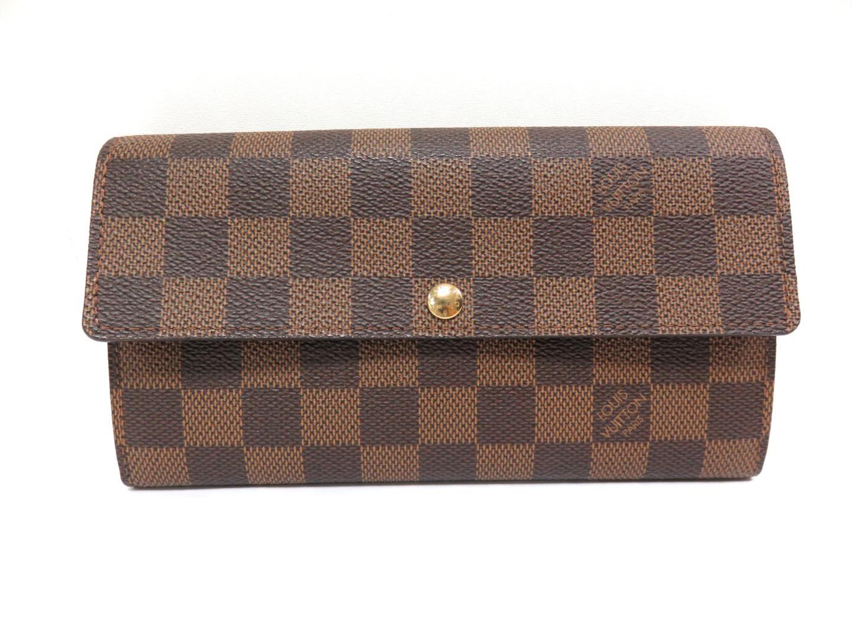 74e2bce7b36 Authentic LOUIS VUITTON Portefeuille sarah Long wallet Purse N61734 Damier