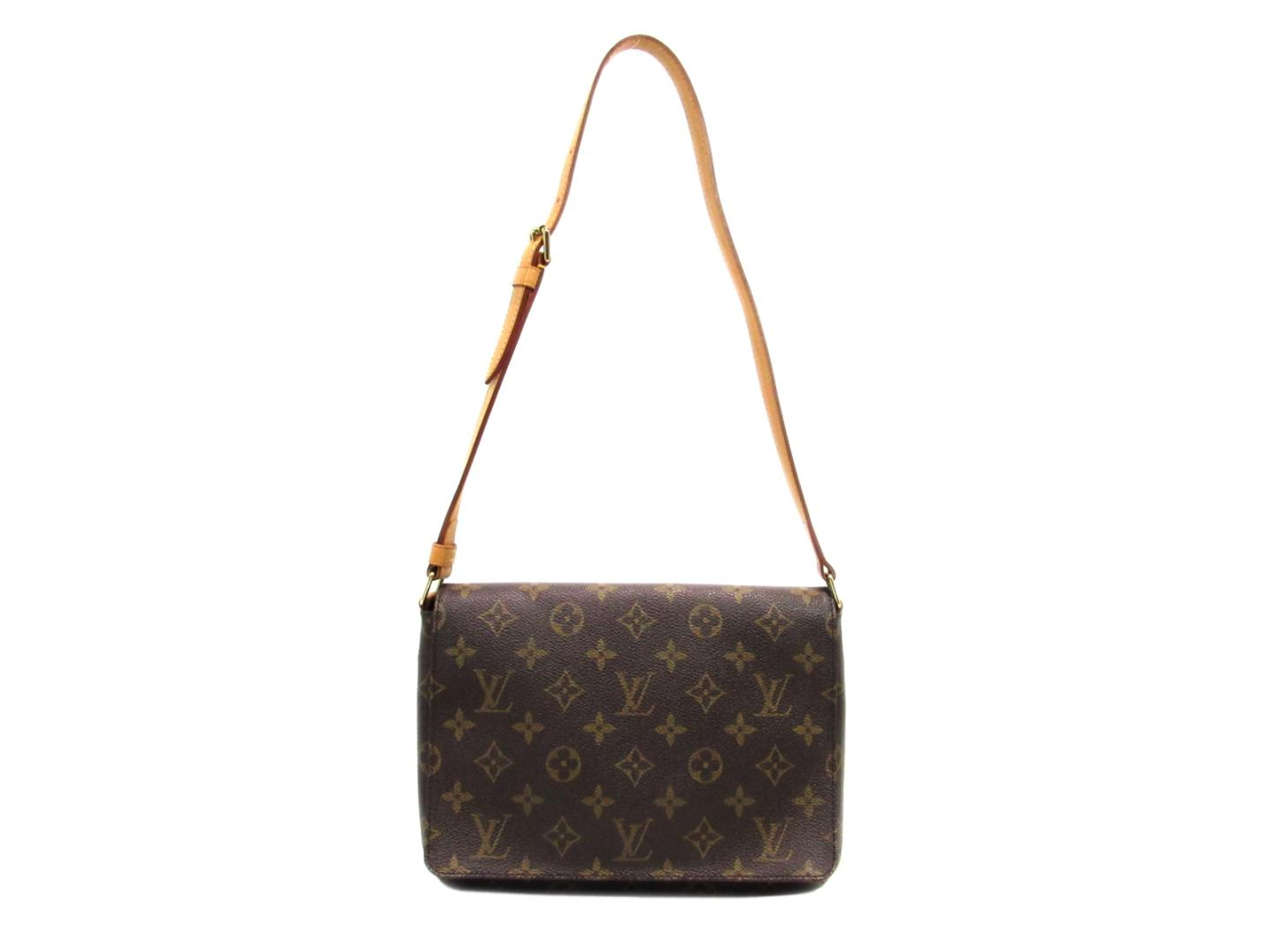 6f4497d0b812 Authentic LOUIS VUITTON Musette Tango Short Strap Shoulder Flap Bag Monogram  M51257