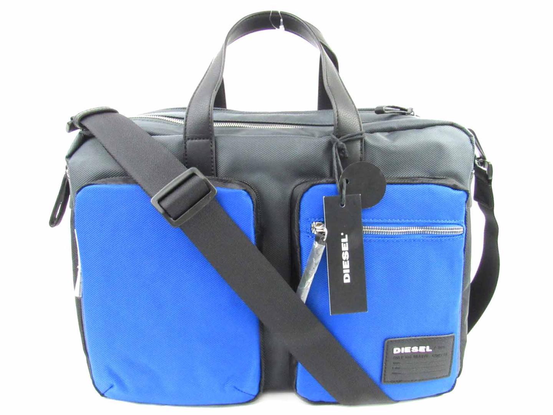 【中古】 ディーゼル ブリーフケース 2wayビジネスバッグ バッグ メンズ ポリウレタン レザー ブラック グレー ブルー (X03000P0409H5970) | DIESEL BRANDOFF ブランドオフ ブランド ブランドバッグ ビジネスバッグ ビジネスバック