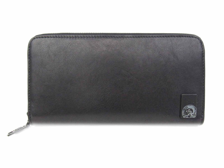 【中古】 ディーゼル ラウンド長財布 財布 レザー ブラック (X04479PR013T8013) | DIESEL BRANDOFF ブランドオフ メンズ ブランド ブランド財布 メンズ財布 サイフ
