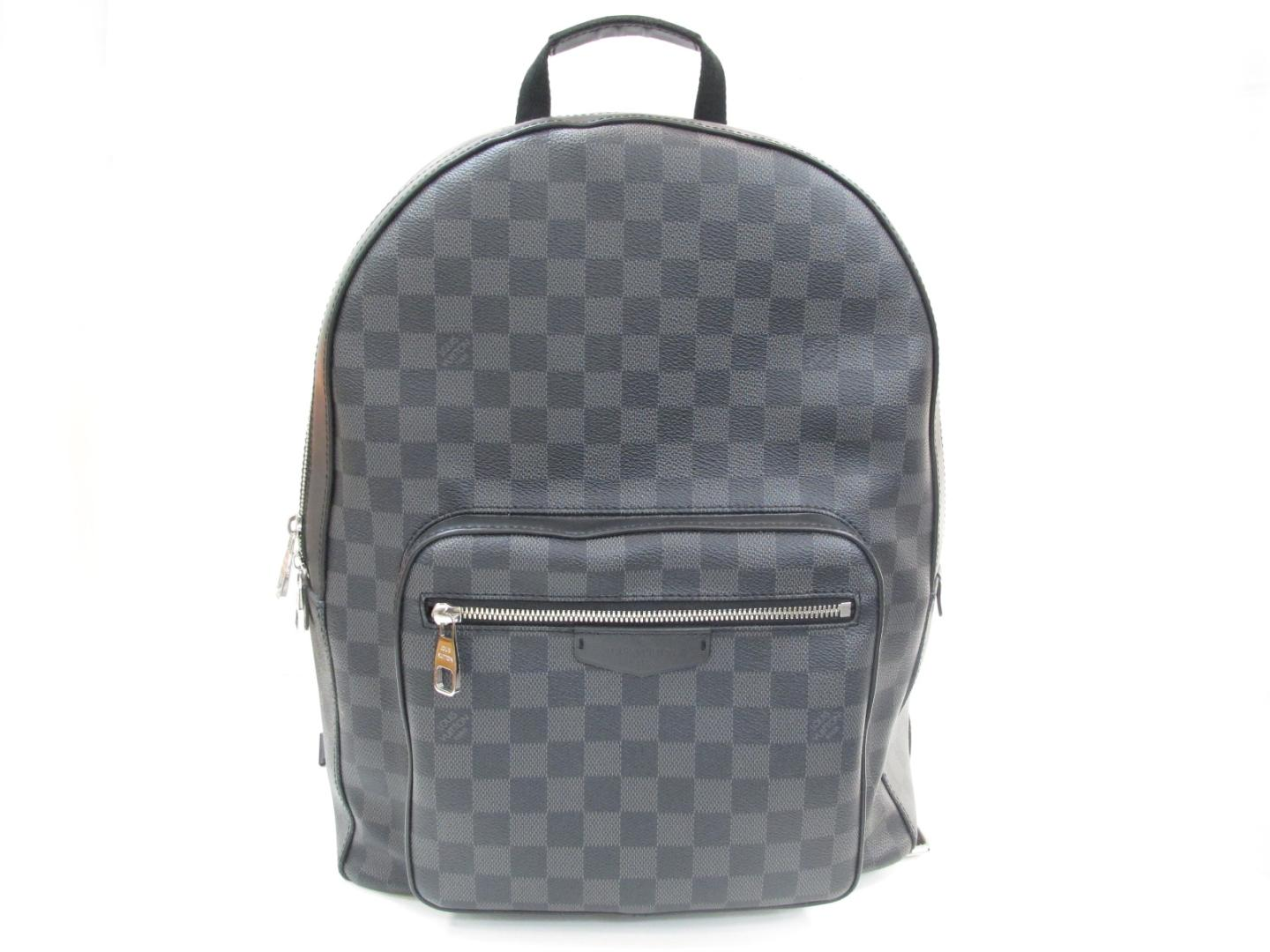 8a4be6501f74 BRANDOFF  Authentic LOUIS VUITTON Josh Backpack Bag Damier Graphite ...
