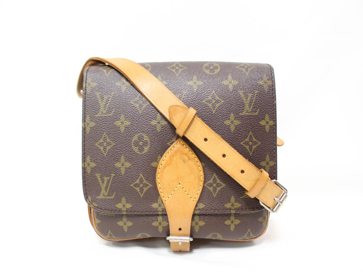 BRANDOFF  Authentic LOUIS VUITTON Cartouchiere Shoulder Bag M51253 ... 4892a306ba45b