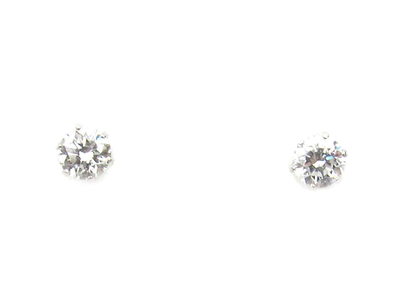 ジュエリー ダイヤモンド ピアス 貴金属 宝石 レディース PT900 プラチナ x ダイヤモンド(0.25ct*2) (697104)