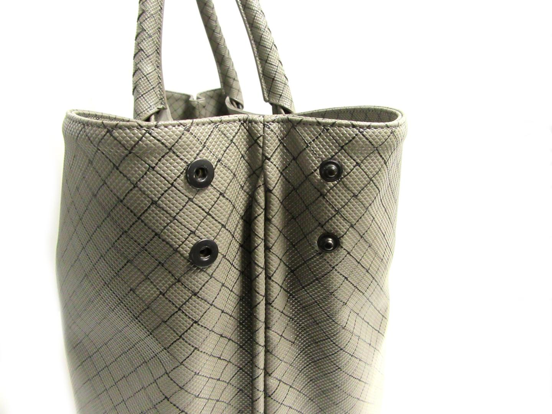 f7cd80c95844 BRANDOFF  Authentic BOTTEGA VENETA Marco Polo Tote Bag 222498 Grey ...