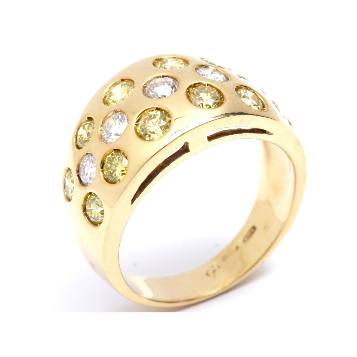【最大24回無金利】 ジュエリー ダイヤモンド リング レディース K18YG (750) イエローゴールド x (石目無し) 【中古】 | JEWELRY BRANDOFF ブランドオフ アクセサリー 指輪