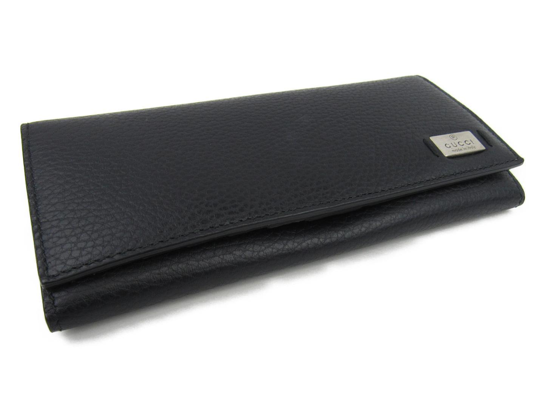 370b859088aaa1 BRANDOFF: Authentic GUCCI ZIP long wallet Purse men leather Black ...