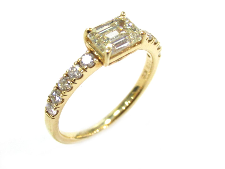 【中古】ジュエリー ダイヤモンド リング 指輪 12号 貴金属 宝石 レディース K18YG(750) イエローゴールドx ダイヤモンド(0.34ct/1.02ct)
