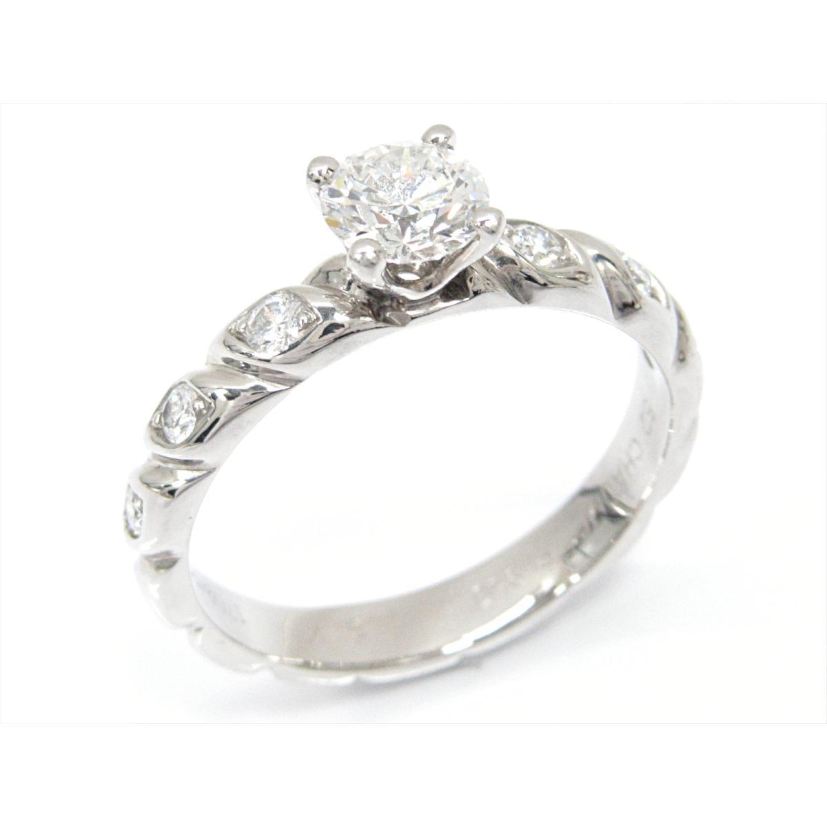 【中古】ショーメ トルサードダイヤモンドリング 指輪 ブランドジュエリー レディース PT950 プラチナxダイヤモンド(石目なし)