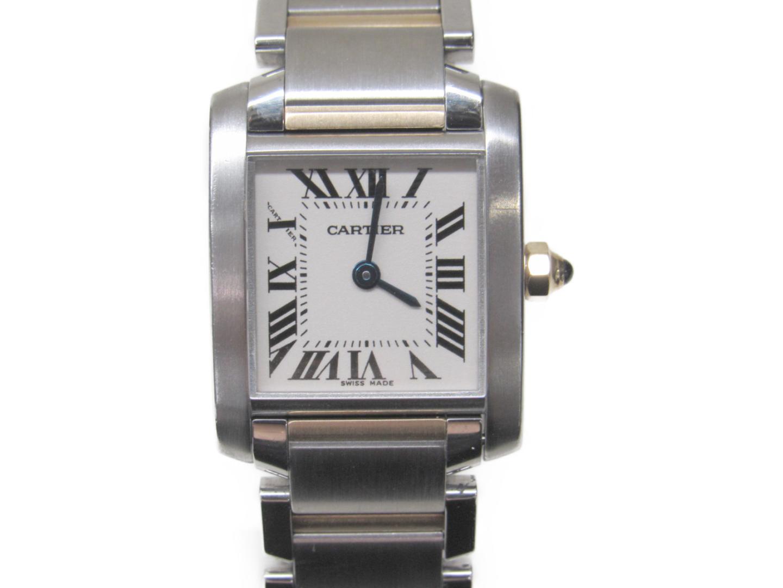 【最大24回無金利】 カルティエ タンクフランセーズSM 腕時計 ウォッチ 時計 レディース ステンレススチール (SS) K18YG シルバー ゴールド (W51007Q4) 【中古】   Cartier BRANDOFF ブランドオフ ブランド ブランド時計 ブランド腕時計