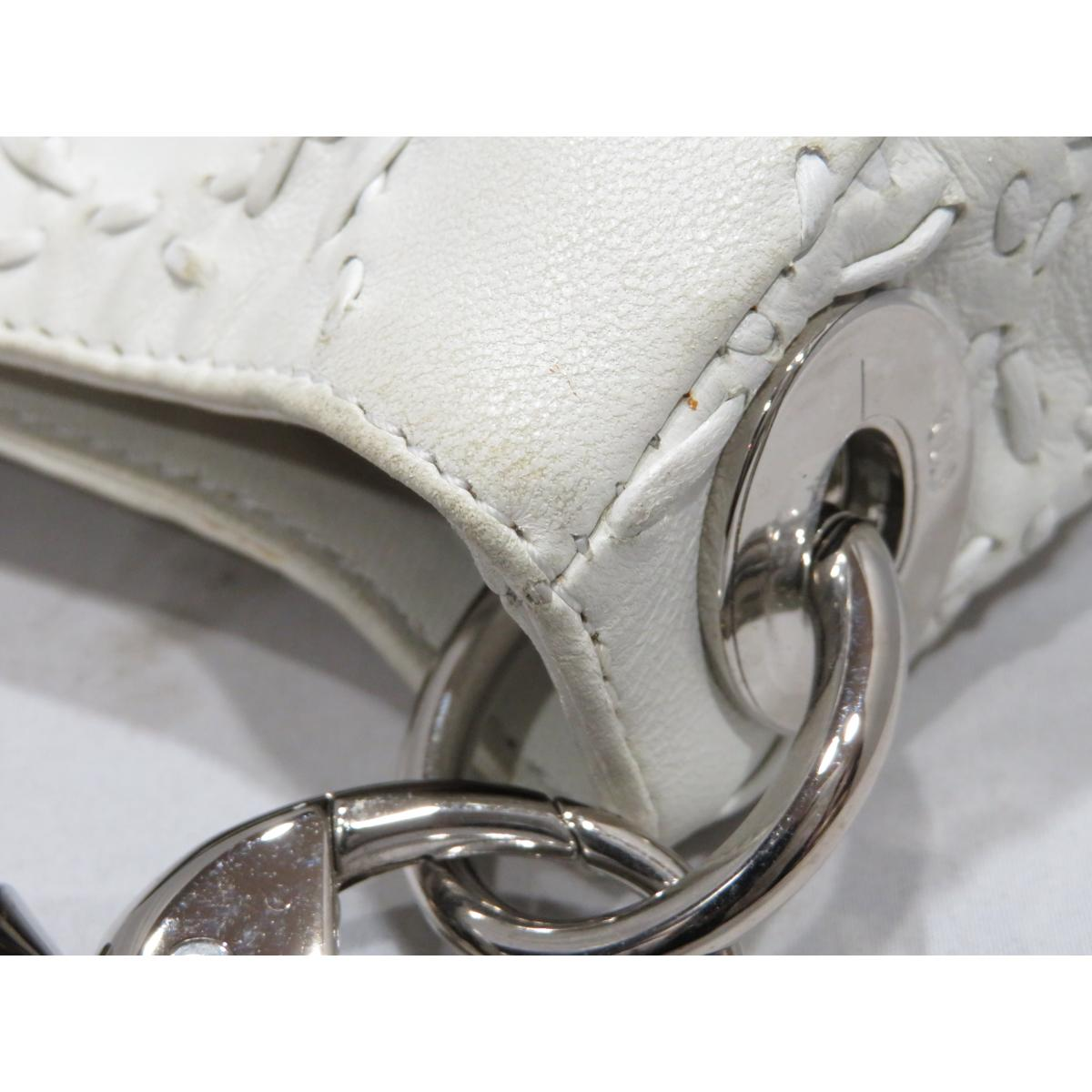 6c79c4f91b9e BRANDOFF  Authentic Christian Dior Shoulder Bag lady leather White ...
