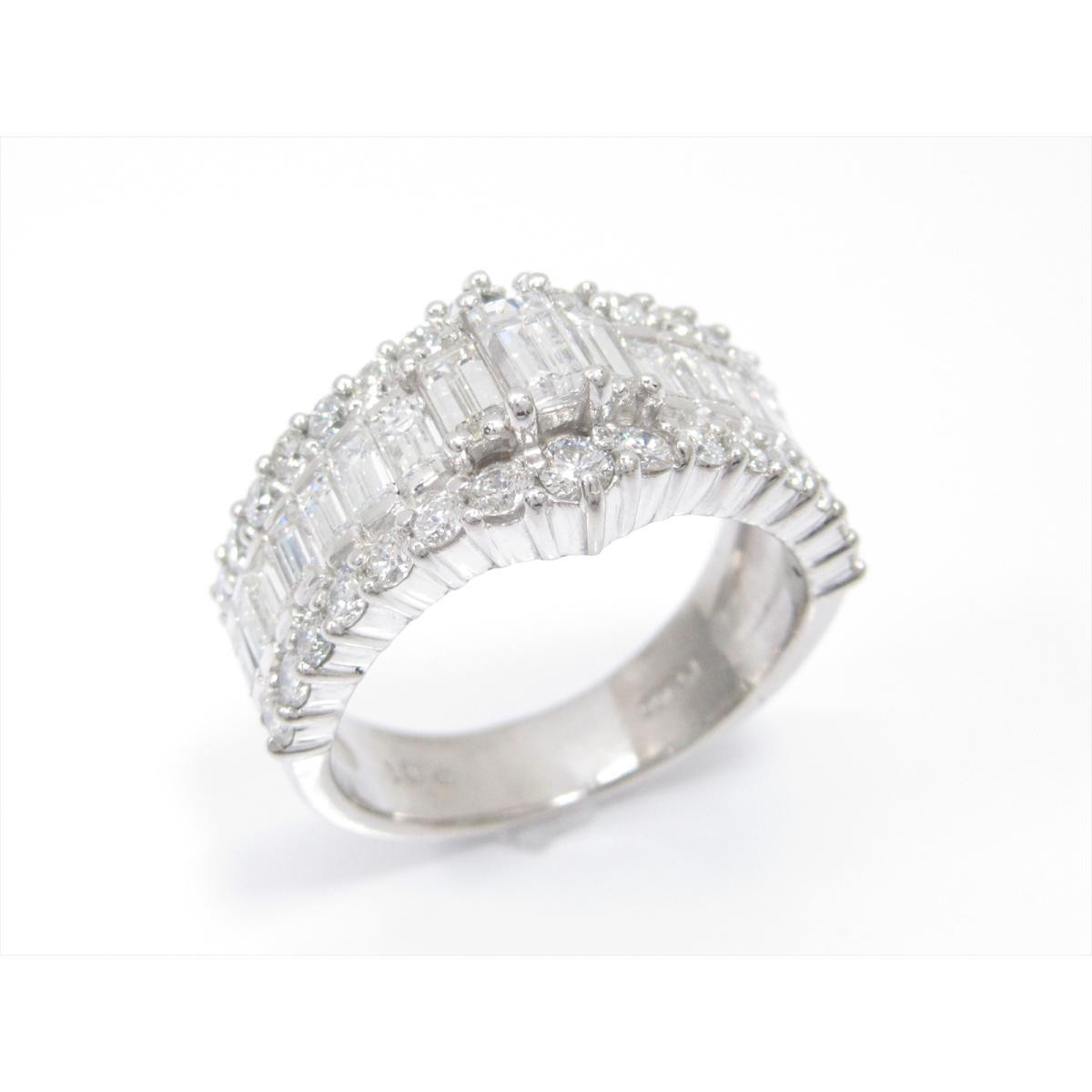 【最大24回無金利】 ジュエリー ダイヤモンドリング 指輪 10号 貴金属 宝石 レディース PT900 プラチナxダイヤモンド2.01ct 【中古】 | JEWELRY BRANDOFF ブランドオフ アクセサリー リング