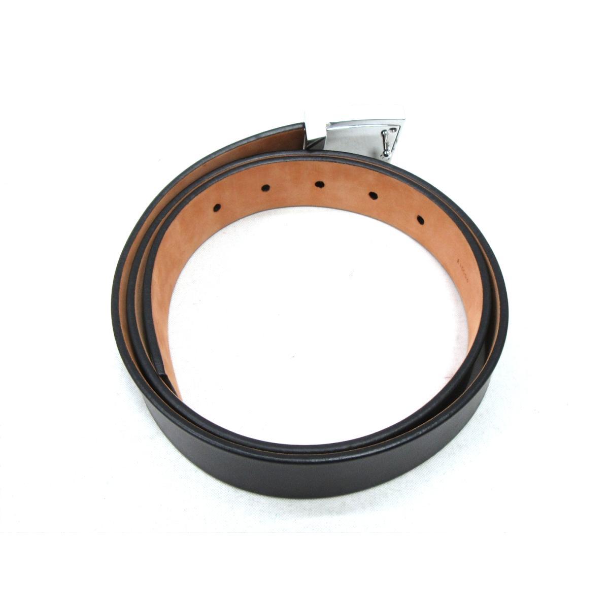 88fc8a20c8a BRANDOFF  Auth LOUIS VUITTON belt leather Black Used Vintage ...