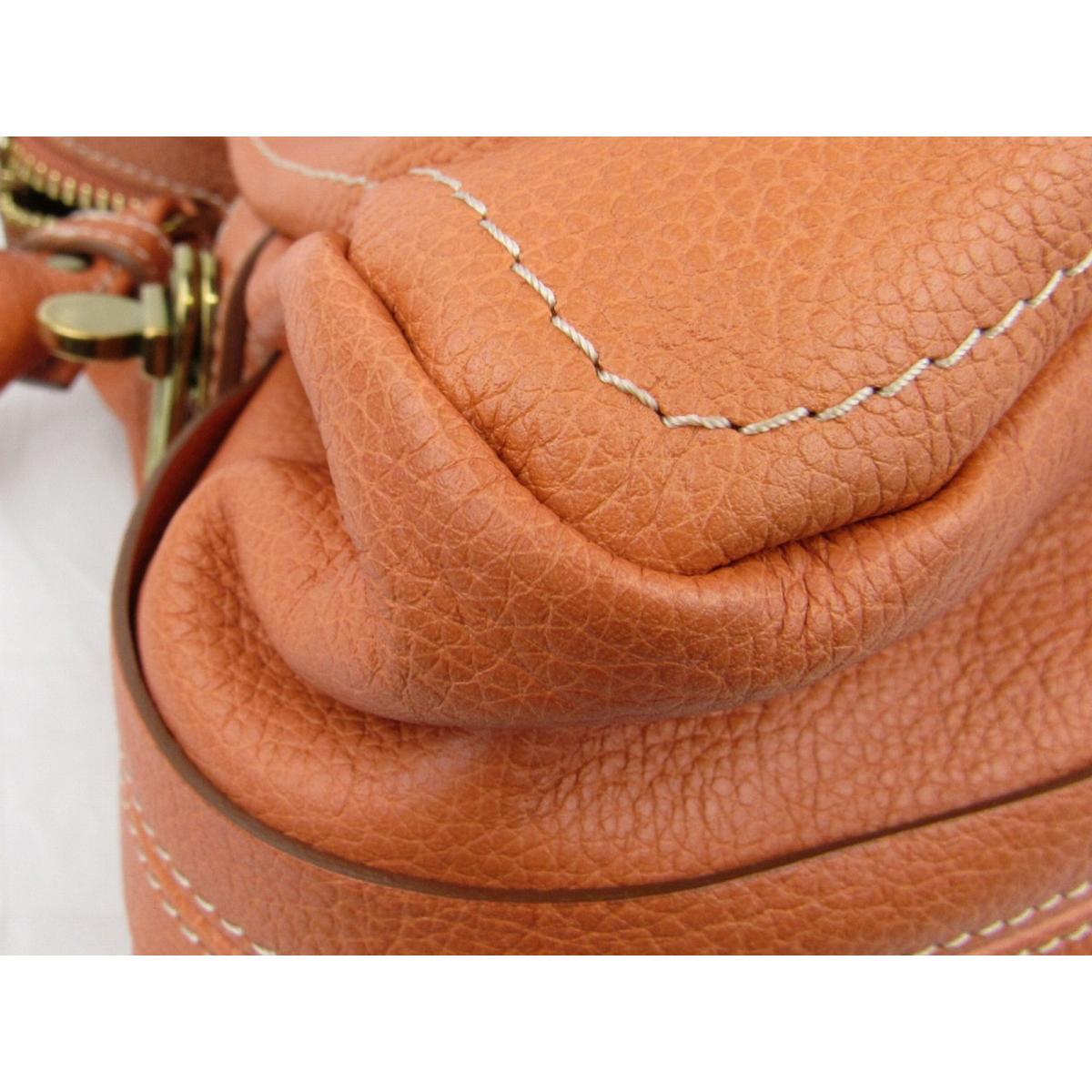 7a7dd5a03f55 ... Auth Chloe Paraty 2way 單肩包bag leather 橙色Used Vintage | BRANDOFF 柏歐 ...