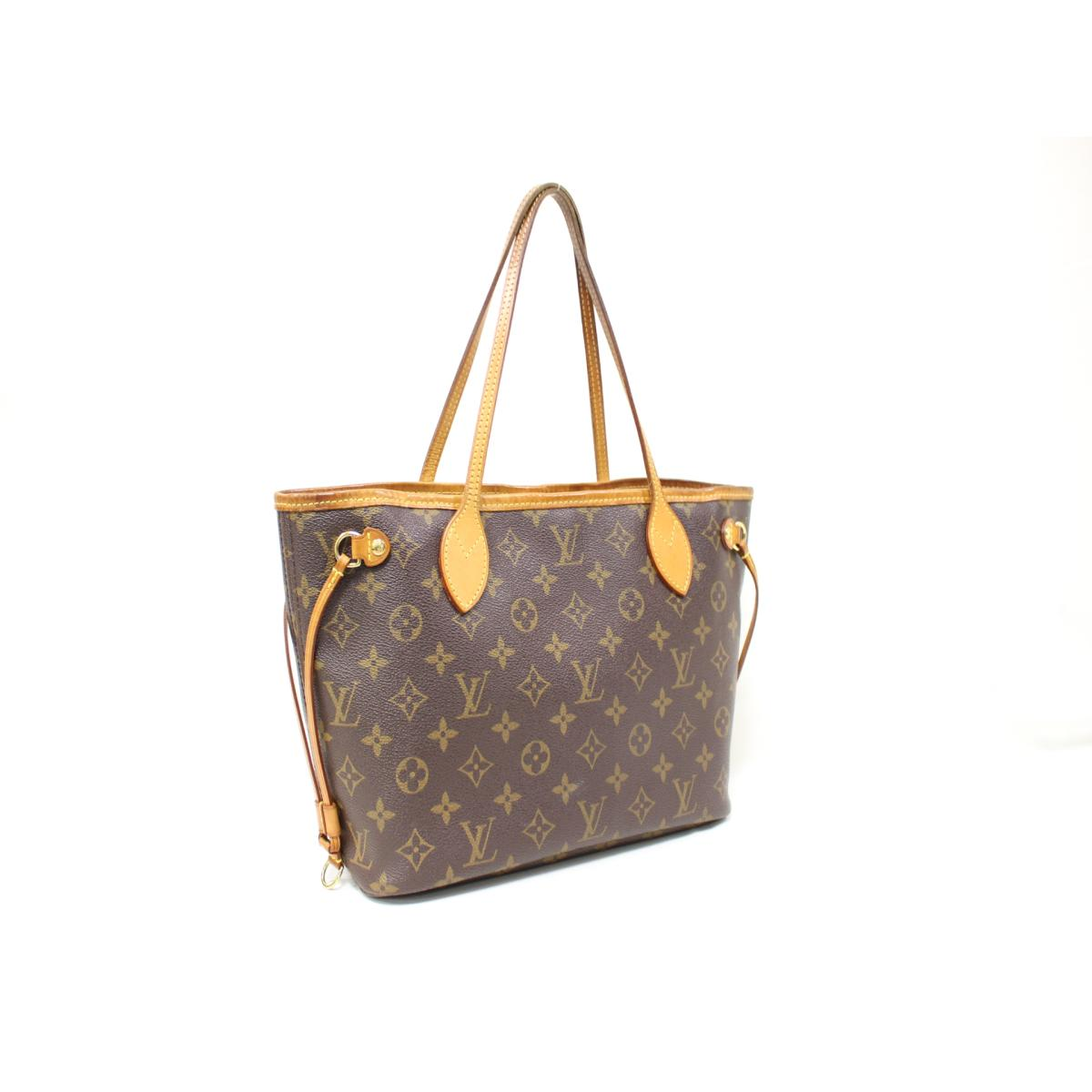 349958e6dec8 (Free shipping) Auth LOUIS VUITTON Neverful PM tote bag M40155 Monogram Used  Vintage