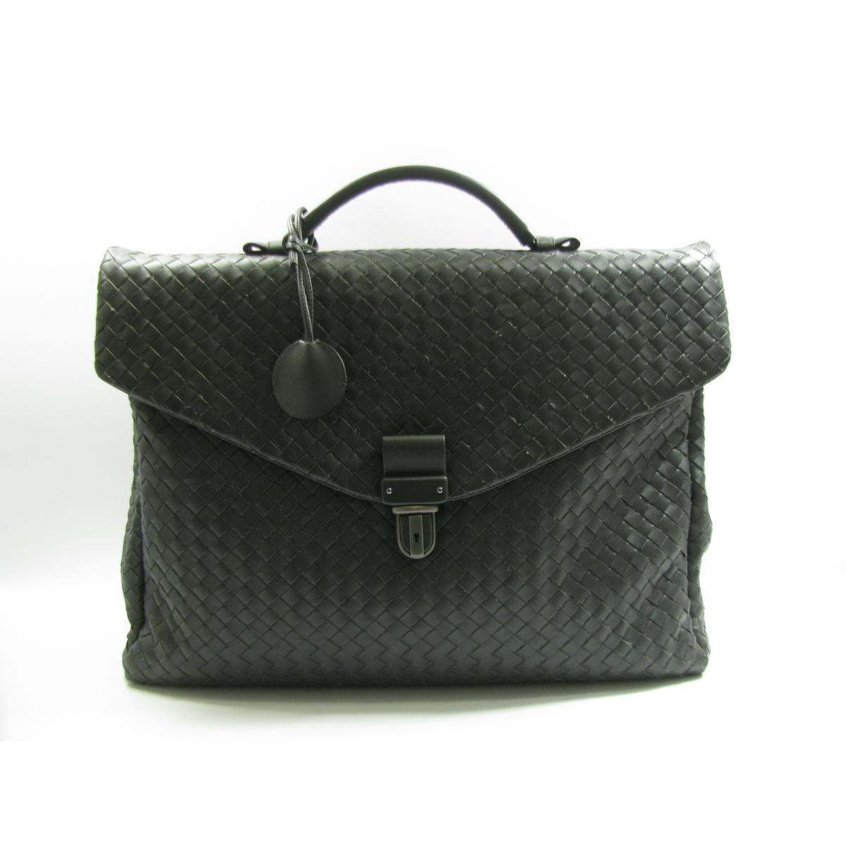 4773ecbe5cb9 BRANDOFF  Authentic BOTTEGA VENETA Intrecciato Briefcase HandBag business  Bag 122139 Leather Gray
