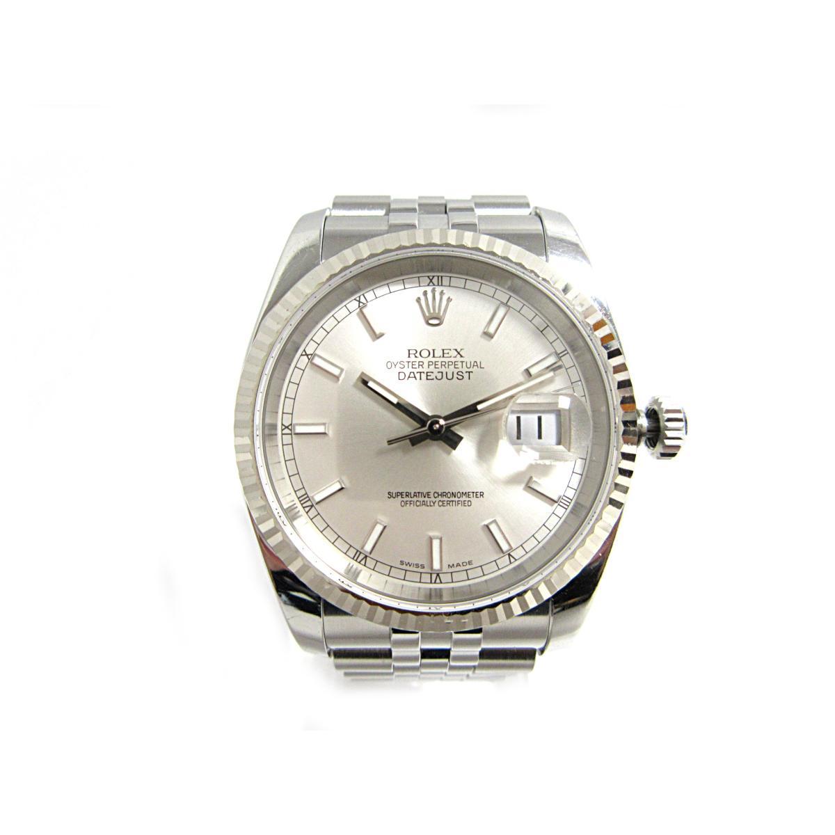 ロレックス デイトジャスト 腕時計 ウォッチ メンズ ステンレススチール (SS) × K18WG (ホワイトゴールド) (116234) 【中古】 | ROLEX BRANDOFF ブランドオフ ブランド ブランド時計 ブランド腕時計 時計