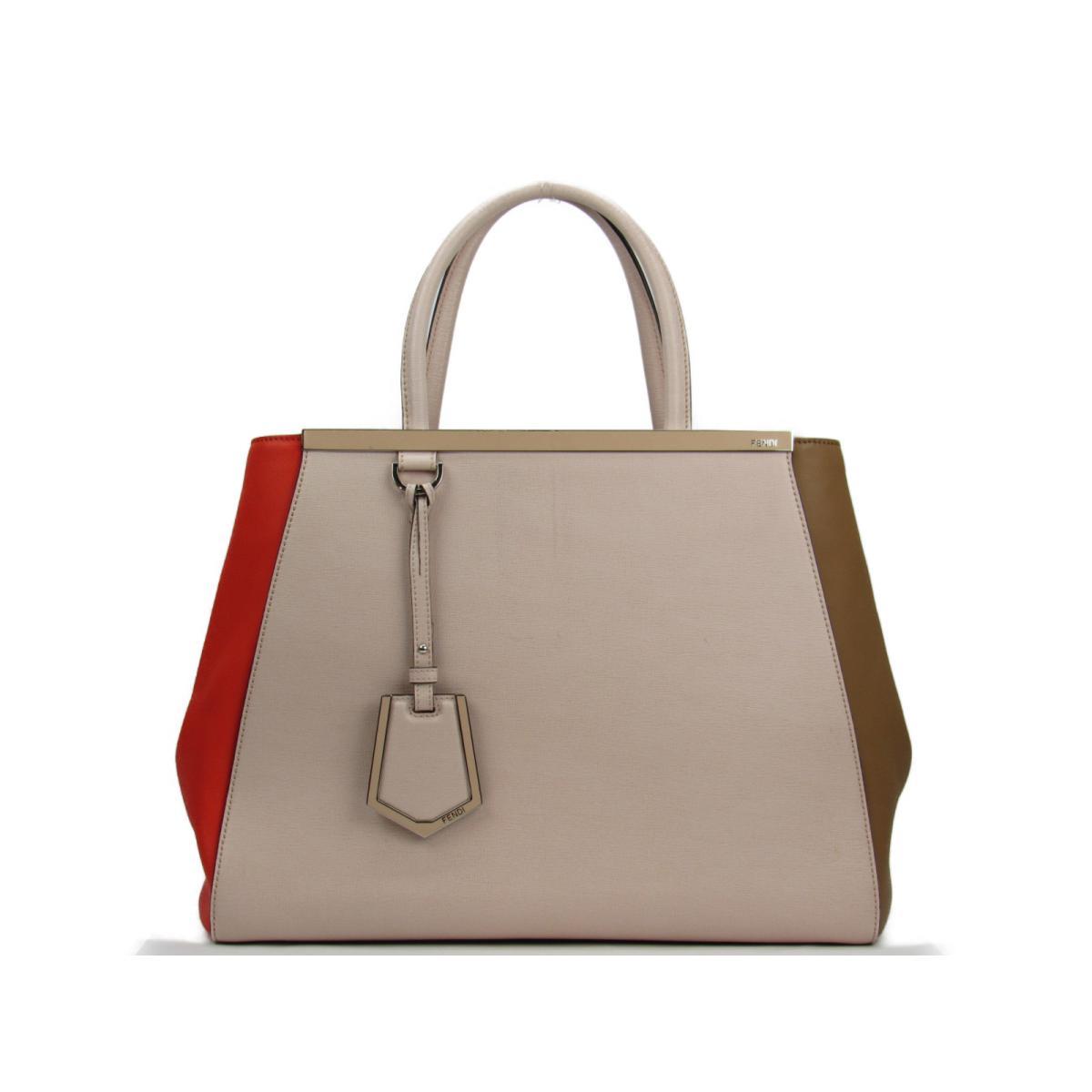 f6a59e42034c BRANDOFF  Authentic FENDI Tou Joule 2way Shoulder Bag leather Beige ...