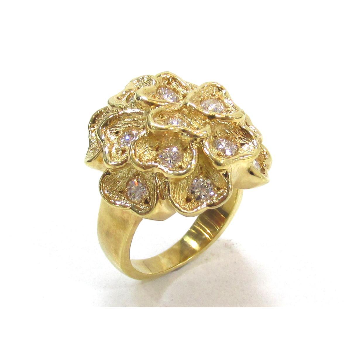 ジュエリー ダイヤモンドリング 指輪 メンズ レディース K18YG (750) イエローゴールド × ダイヤモンド1.17 【中古】 | JEWELRY BRANDOFF ブランドオフ アクセサリー リング