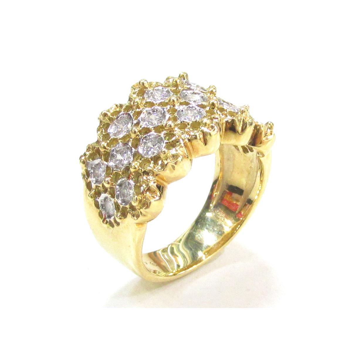 【最大24回無金利】 ポンテヴェキオ ダイヤモンドリング 指輪 レディース K18YG (750) イエローゴールドxダイヤモンド (0.50ct) 【中古】 | Ponte Vecchio BRANDOFF ブランドオフ ブランド ジュエリー アクセサリー リング