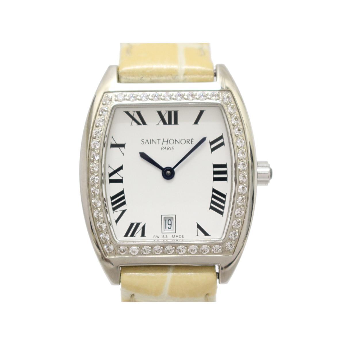 【最大24回無金利】 SANTNORE サントノーレ ダイヤモンドベゼル レディースウォッチ 腕時計 時計 レディース ステンレススチール (SS) × ダイヤモンド 【中古】 | BRANDOFF ブランドオフ ブランド ブランド時計 ブランド腕時計 ウォッチ