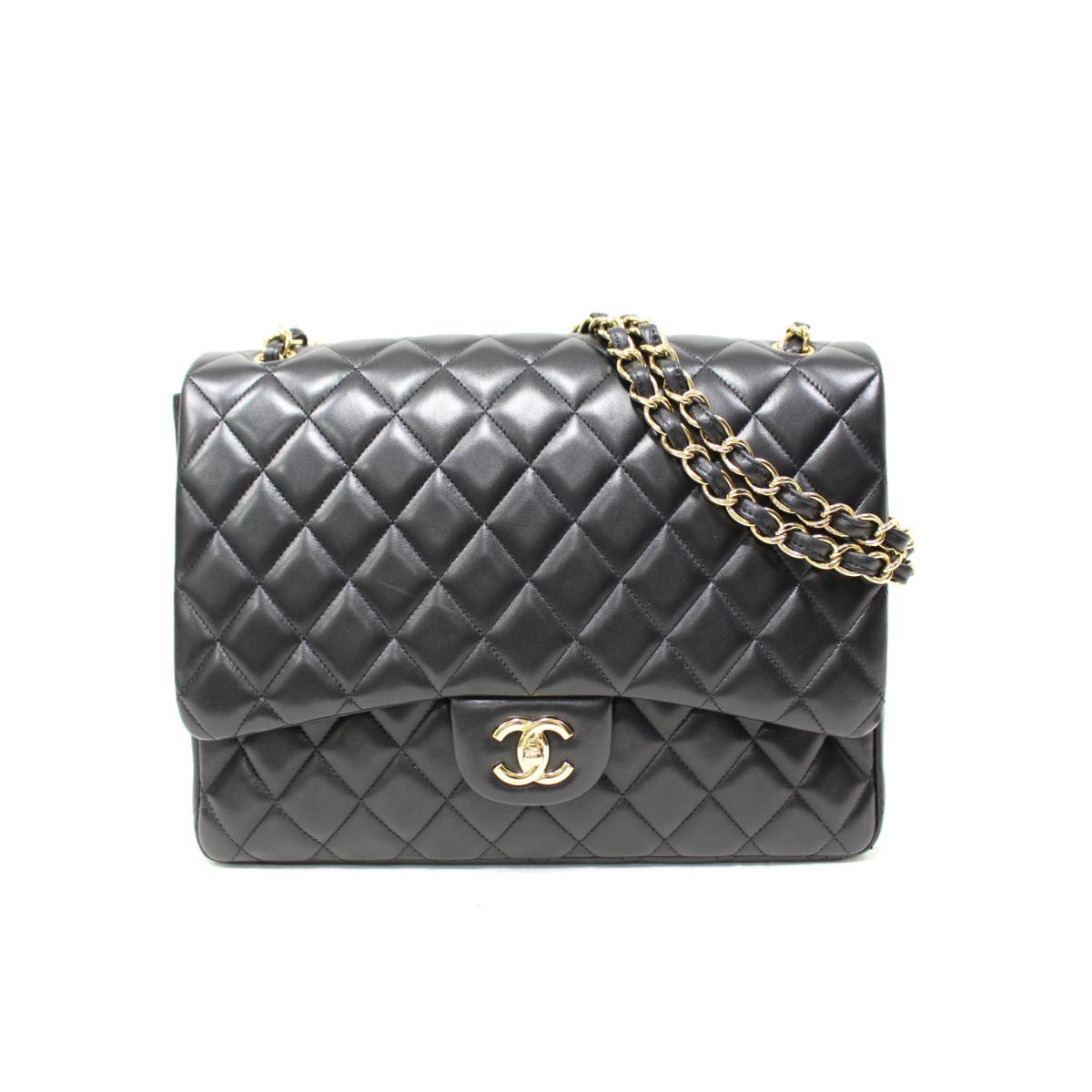 696997c2dd41 BRANDOFF  Authentic CHANEL Jumbo Matelasse W Flap Chain Shoulder Bag ...