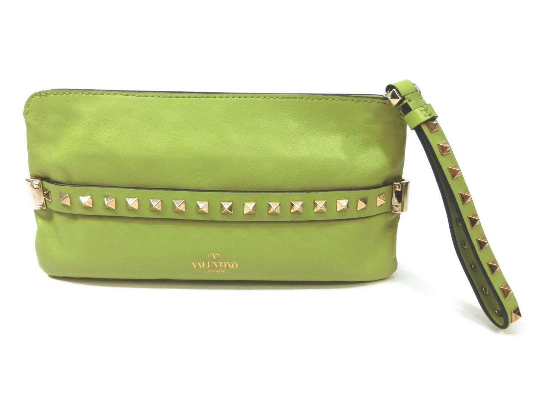 4e658f22ad56 BRANDOFF  Authentic VALENTINO second Bag clutch Bag HandBag leather ...