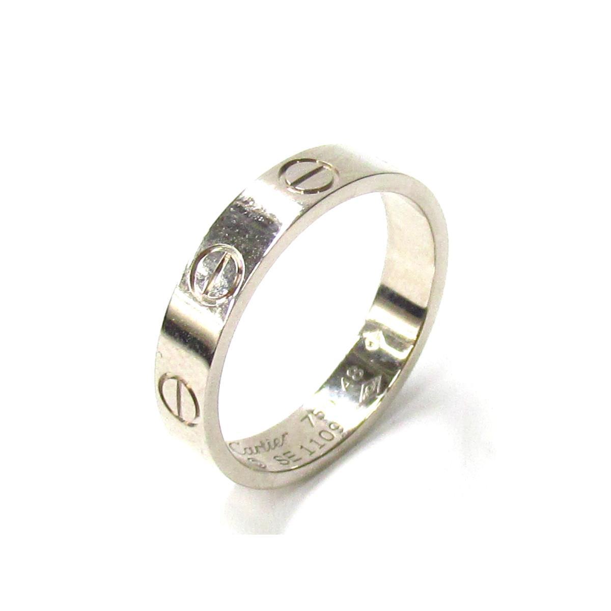 【最大24回無金利】 カルティエ ミニラブリング 指輪 メンズ レディース K18WG (750) ホワイトゴールド 【中古】 | Cartier BRANDOFF ブランドオフ ブランド ジュエリー アクセサリー リング
