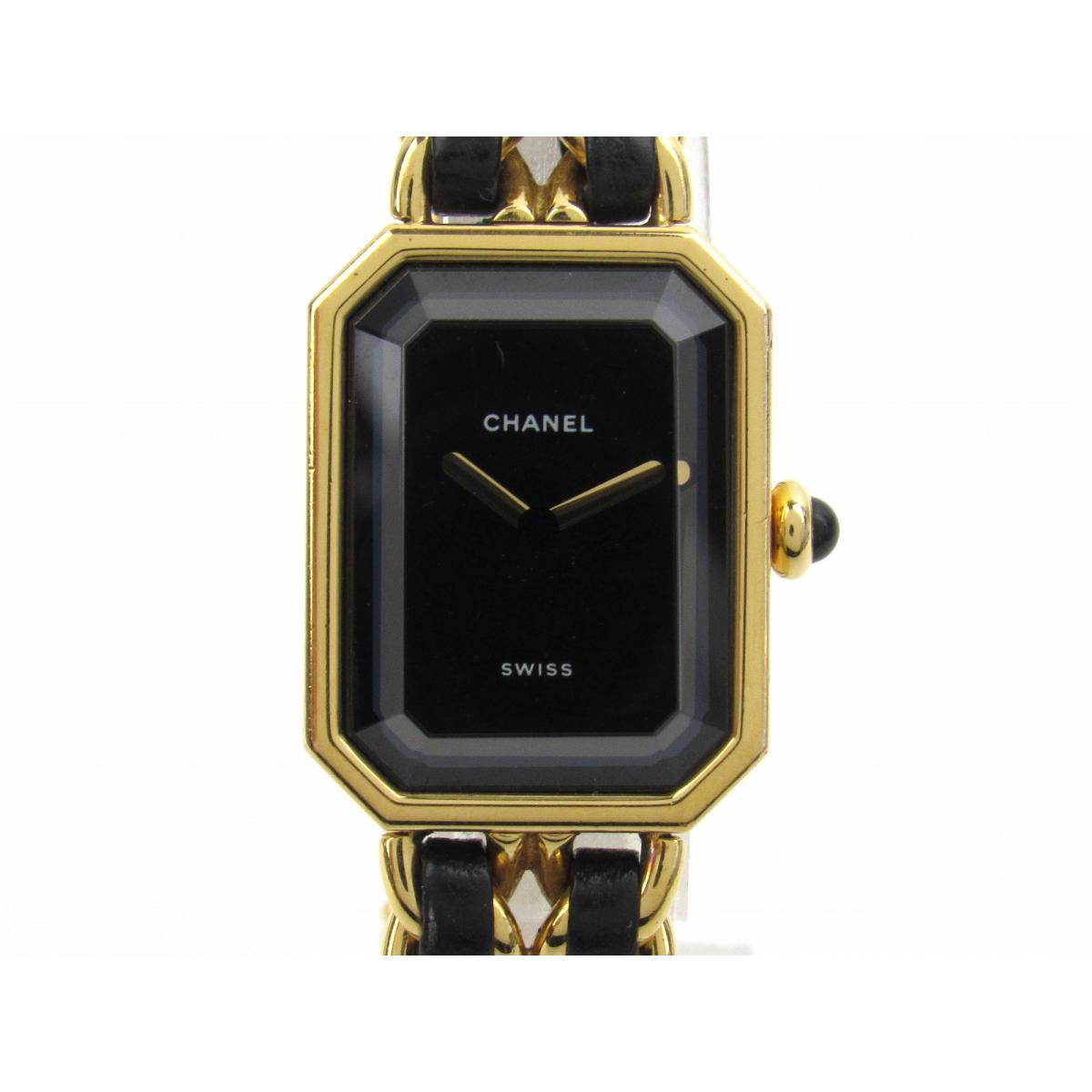 【最大24回無金利】 シャネル プルミエールL ウォッチ 腕時計 時計 レディース レザーベルトxGP (ゴールドメッキ) 【中古】   CHANEL BRANDOFF ブランドオフ ブランド ブランド時計 ブランド腕時計