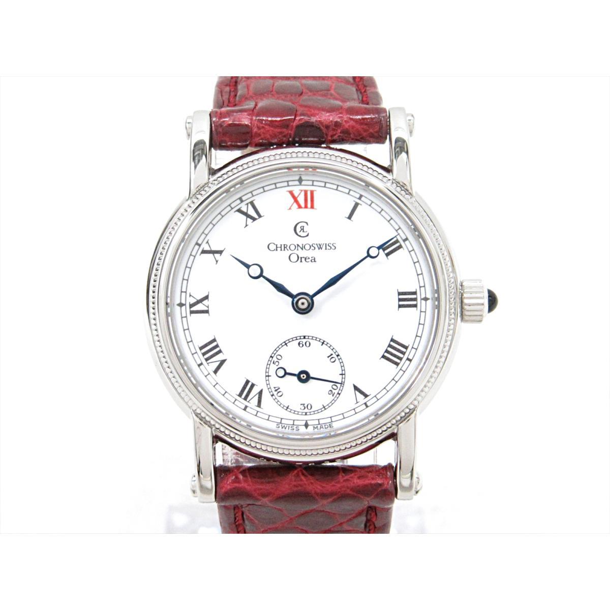 【最大24回無金利】 クロノスイス オレア 腕時計 ウォッチ 時計 レディース ステンレススチール (SS) xレザーベルト (社外品) (CH7163) 【中古】 | CHRONOSWISS BRANDOFF ブランドオフ ブランド ブランド時計 ブランド腕時計