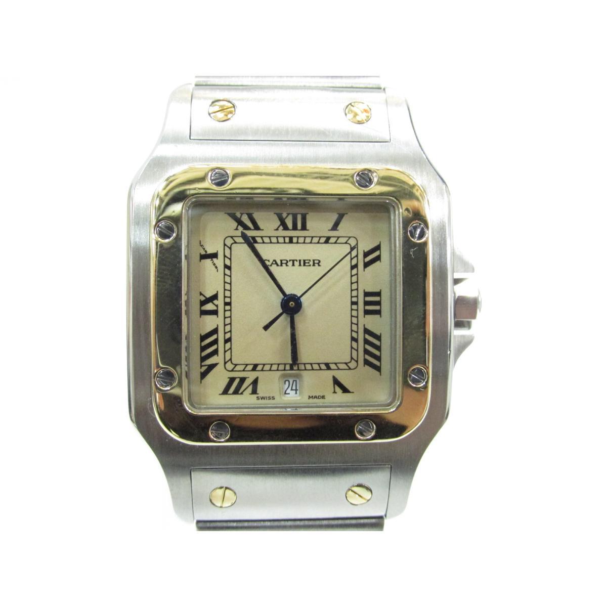 【最大24回無金利】 カルティエ サントスLM 腕時計 時計 レディース ステンレススチール (SS) 【中古】   Cartier BRANDOFF ブランドオフ ブランド ブランド時計 ブランド腕時計 ウォッチ