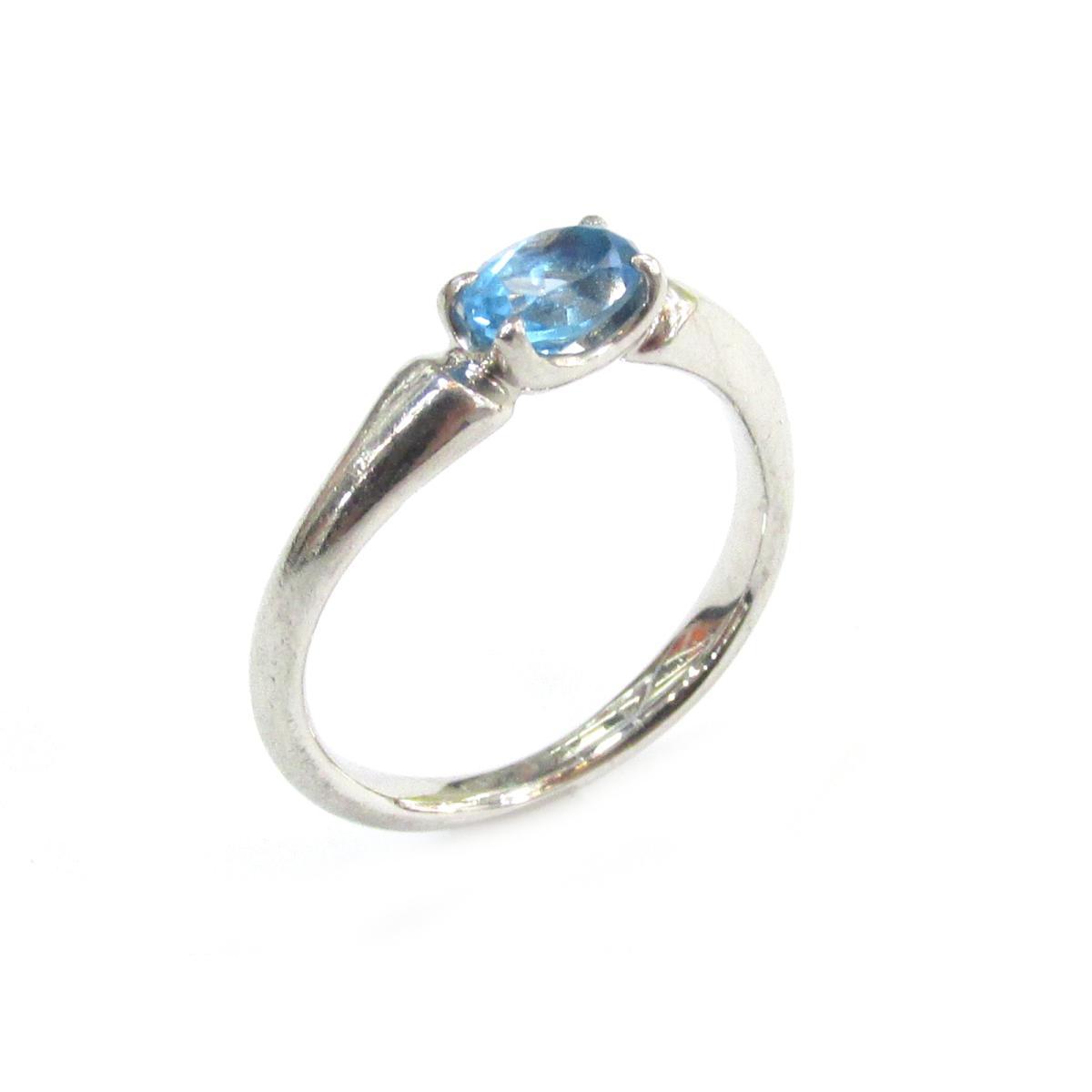 21d2fc312c89 【中古】ヨンドシーアクアマリンリング指輪ブランドジュエリーレディースPT950プラチナxアクアマリン