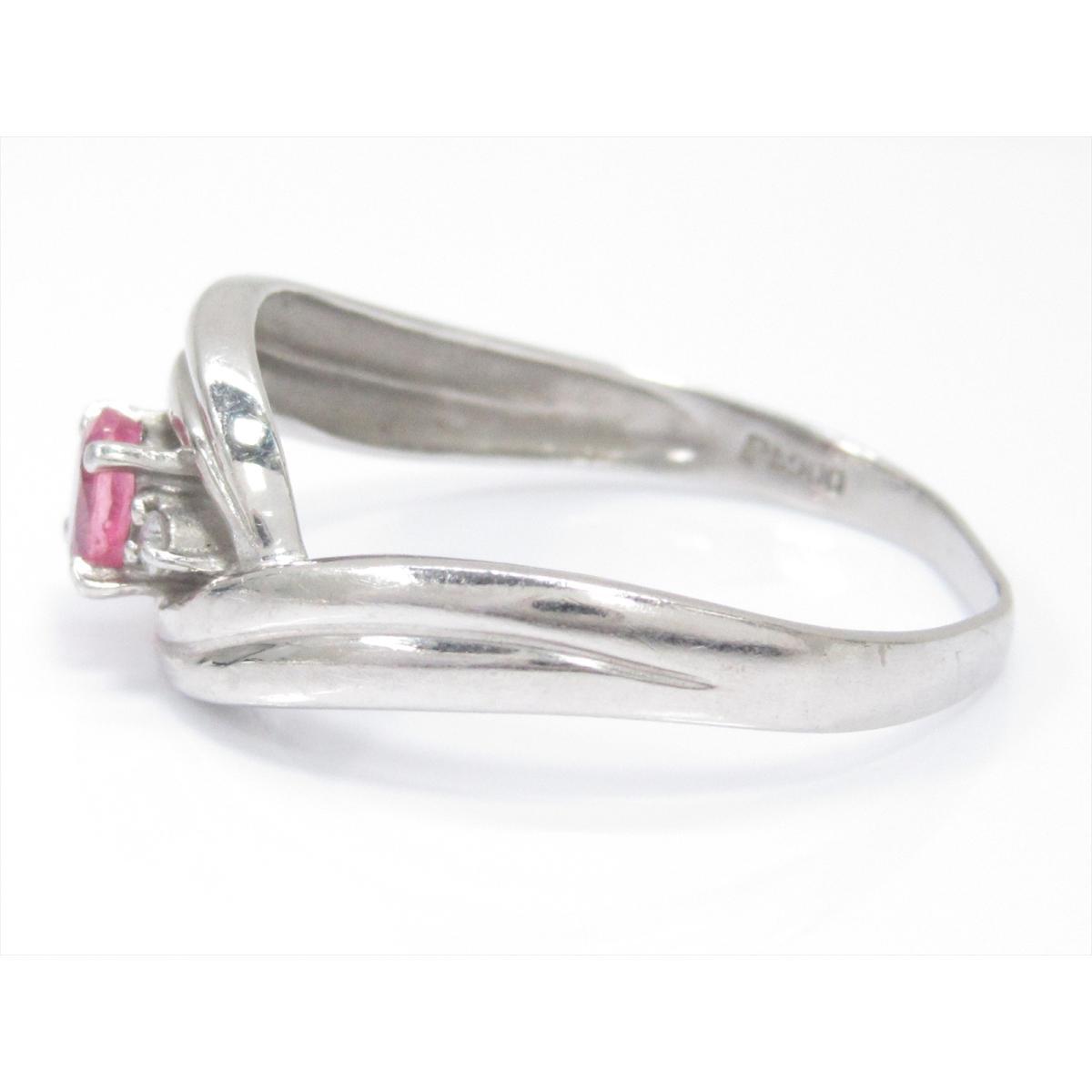 b71c677fdd4e ジュエリー ピンクサファイアリング 指輪 ノーブランドジュエリー レディース PT900 (0.30ct) xダイヤモンド (0.03ct) 【中古】  | JEWELRY BRANDOFF ブランドオフ ...