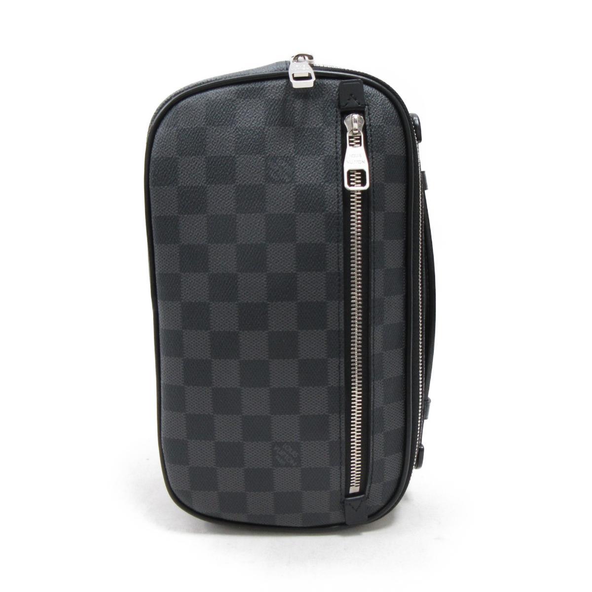 963f34121d54 Authentic LOUIS VUITTON Ambler Belt Crossbody Bag N41289 Damier Graphite
