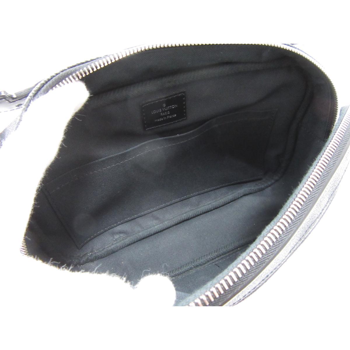 8449a5a0280c Authentic LOUIS VUITTON Ambler Belt Crossbody Bag N41289 Damier Graphite