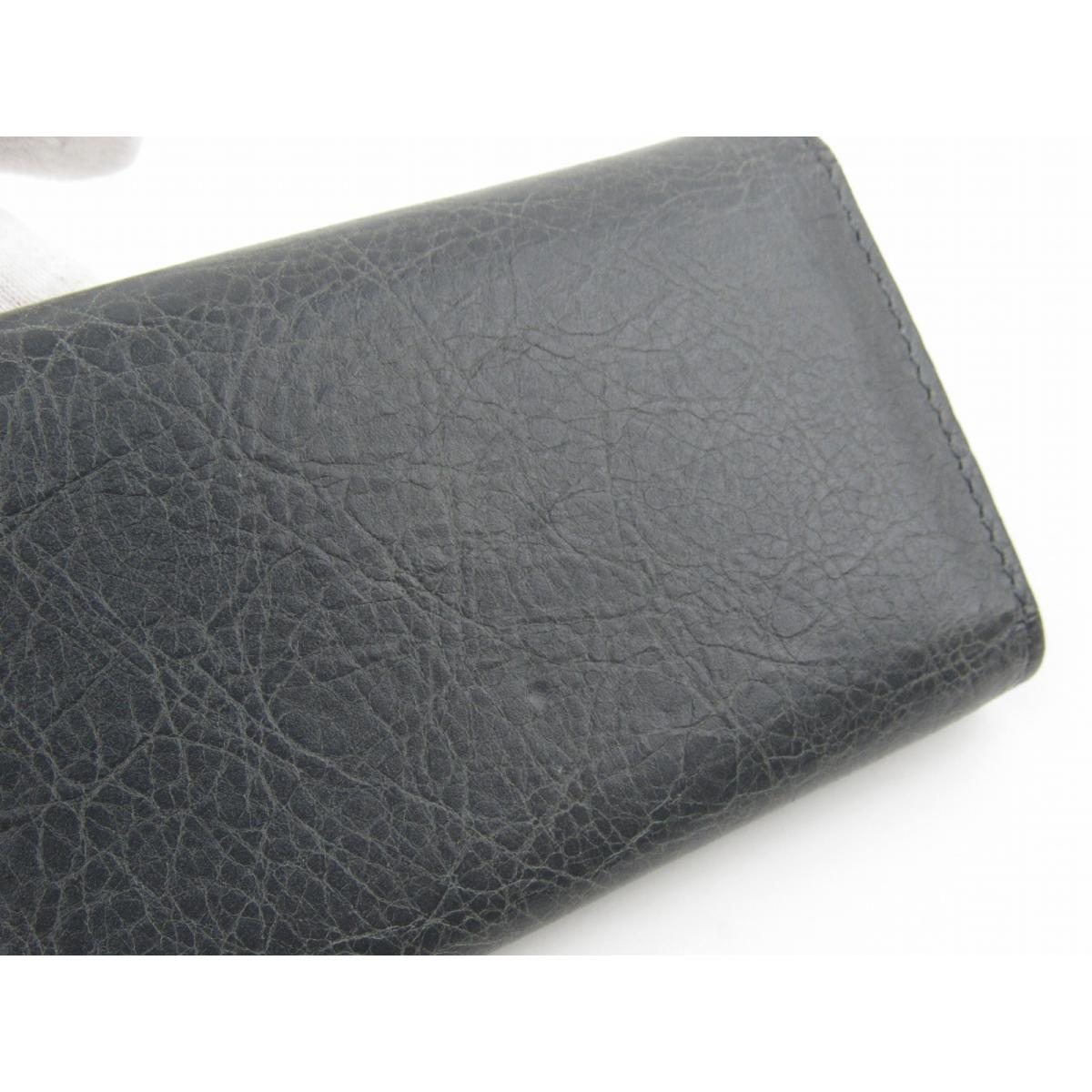 a58e836dc7cb BRANDOFF  Authentic BALENCIAGA Giant 6 key case holder leather gray ...