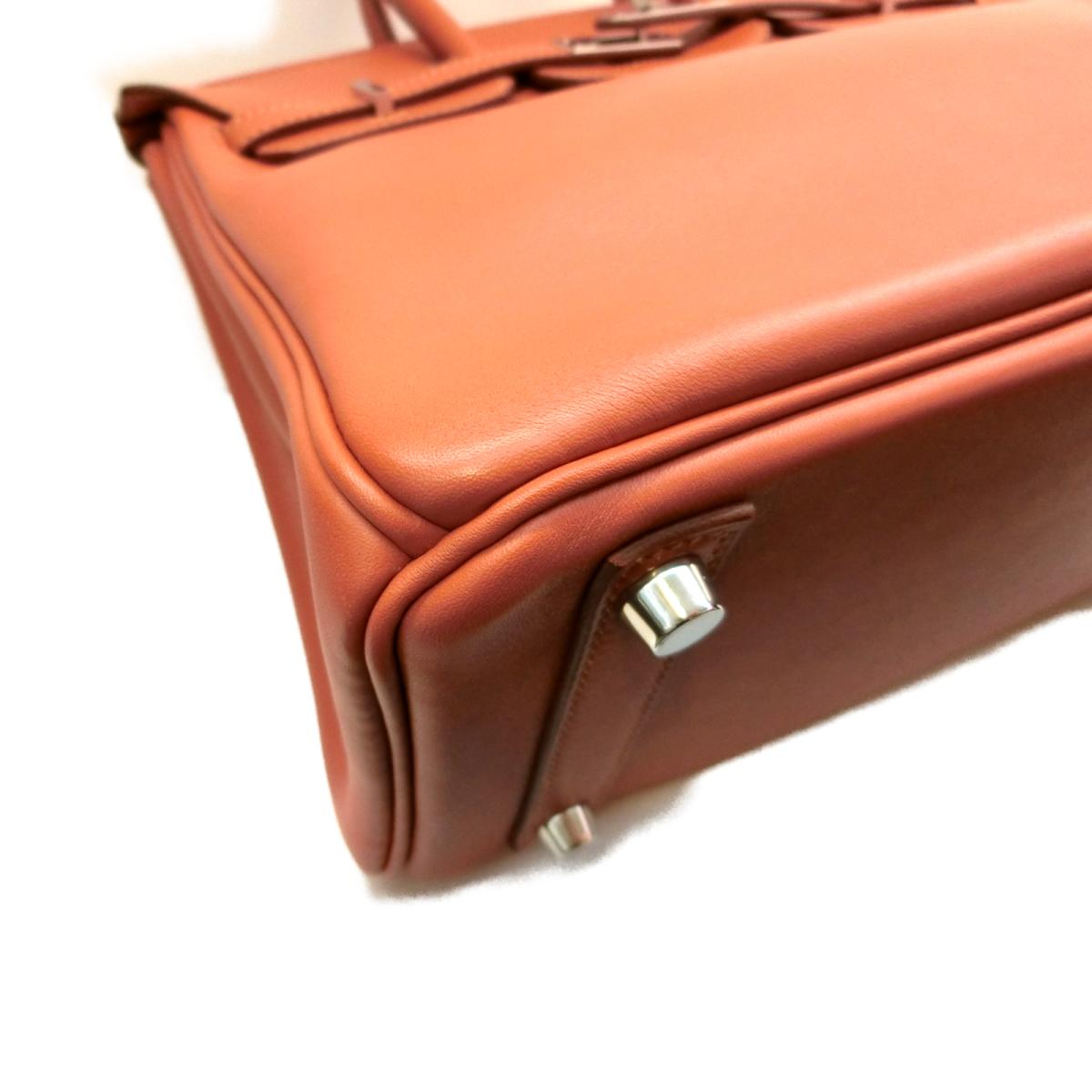 bae606e76d94 Auth HERMES Birkin 25 hand tote bag Swift leather Rosy Pink SHW Used Vintage