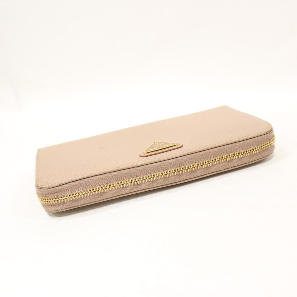 f29f60ce891d Authentic PRADA Saffiano Long Wallet Purse Leather CAMMEO Beige (1ML506)