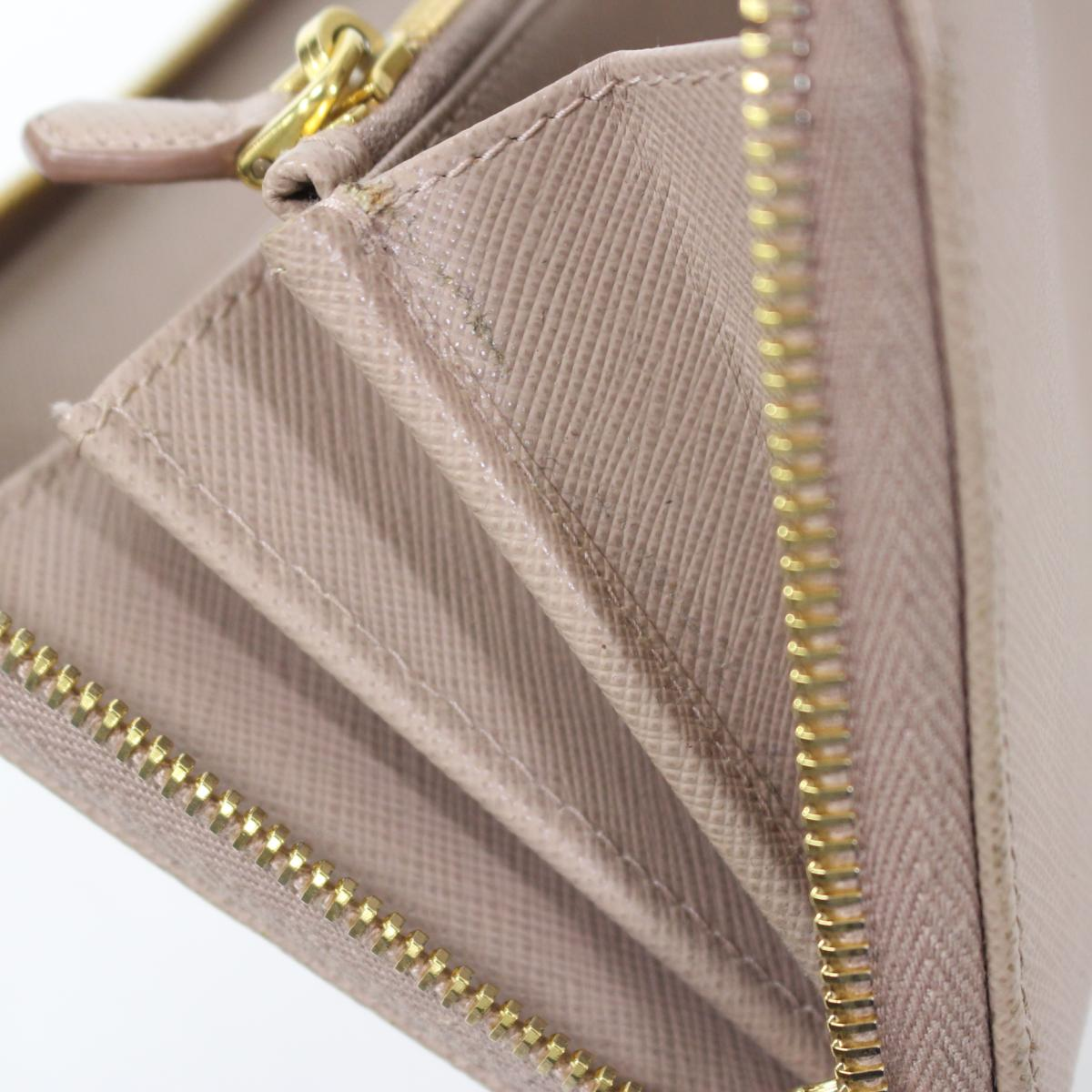 8b8014ea23 Authentic PRADA Saffiano Long Wallet Purse Leather CAMMEO Beige (1ML506)