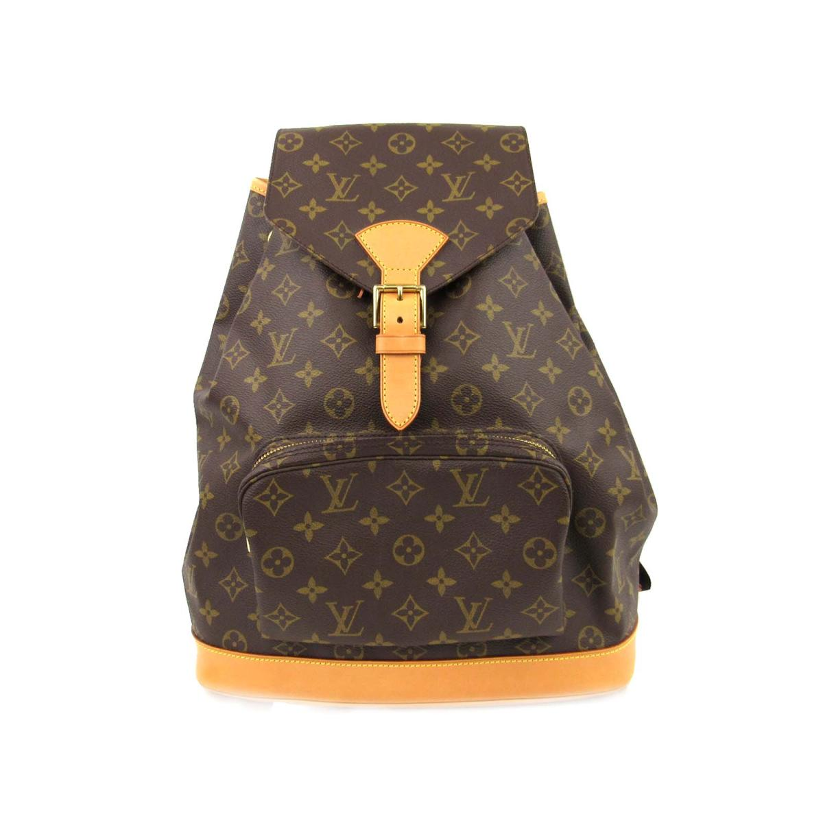 Authentic LOUIS VUITTON Montsouris GM Backpack Rucksack Bag Monogram Canvas  M51135 48170d1efc11a