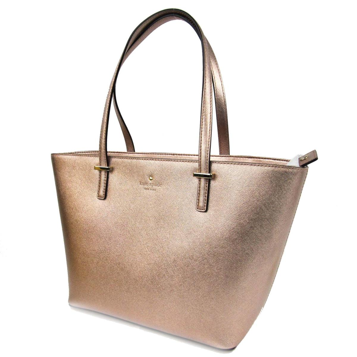Authentic Kate Spade Shoulder Tote Bag Leather Pink Gold Pxru6956705