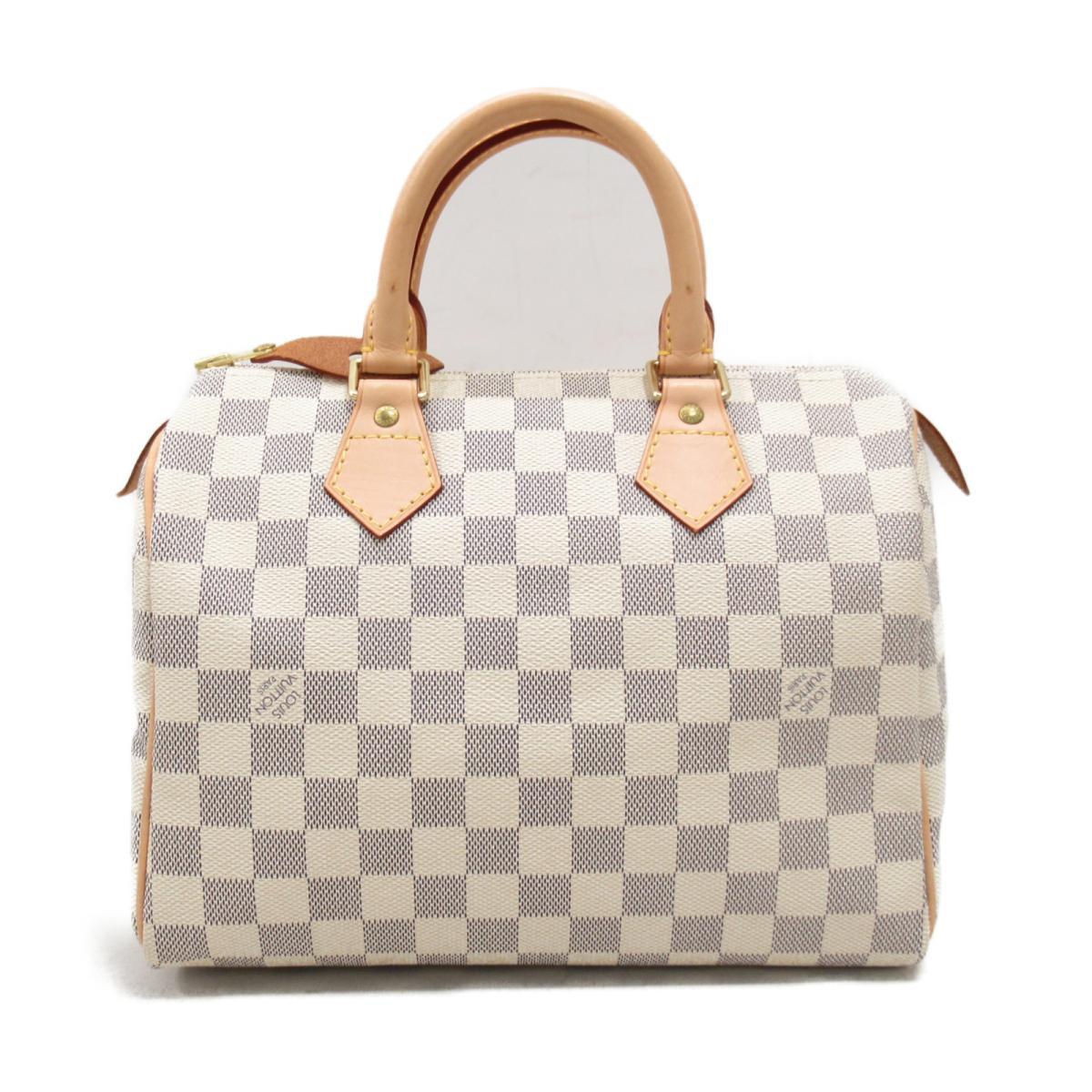 def30e1f618a (Free shipping) Auth LOUIS VUITTON Speedy 25 Hand bag N41534 Damier Azur  Damier Azur Used