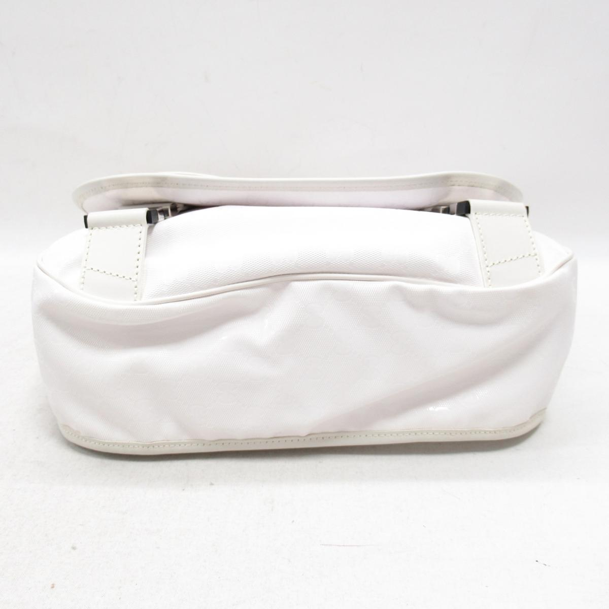 342d76cc51fb1e ... Authentic GUCCI Messenger Shoulder Crossbody Bag White (201732) ...