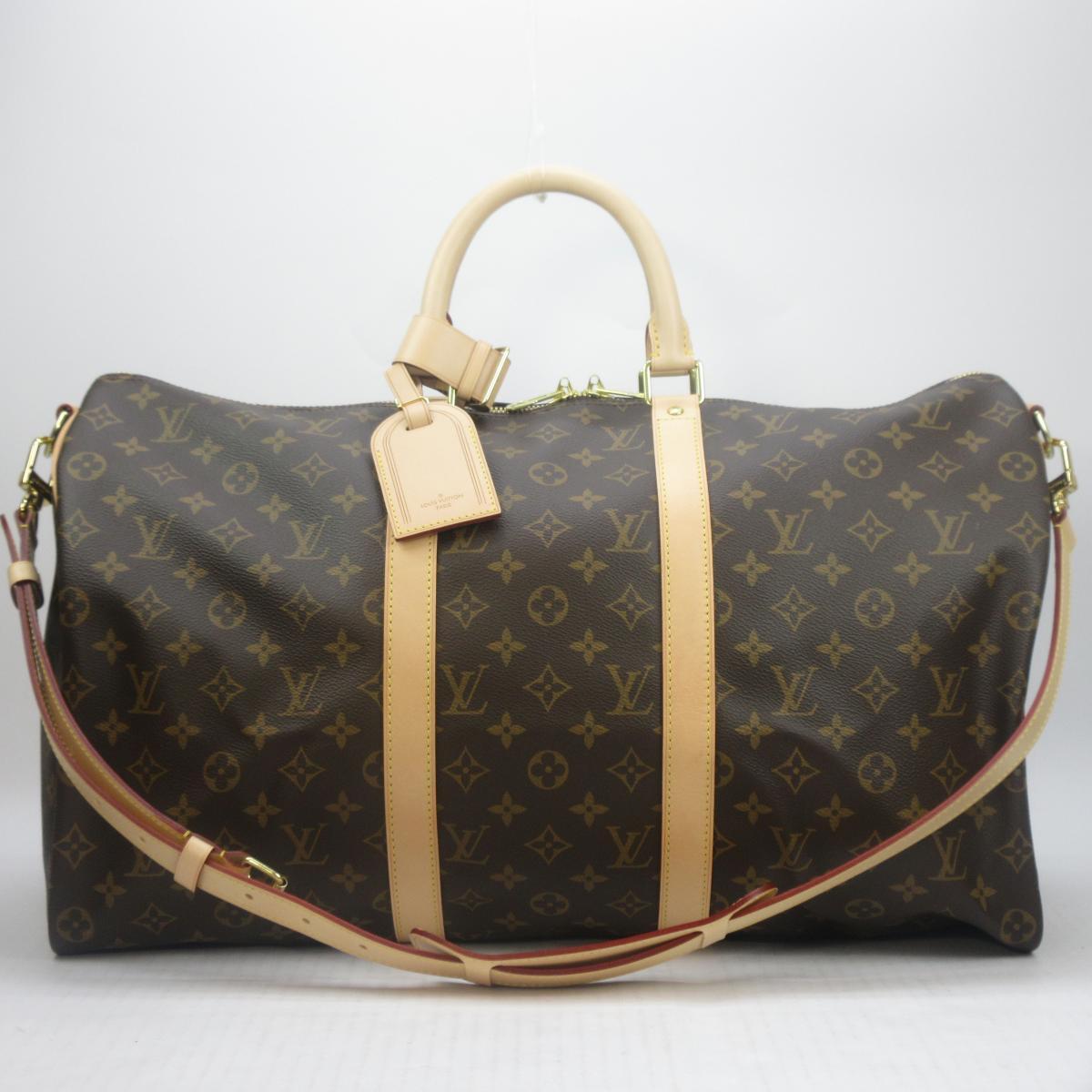 Authentic LOUIS VUITTON Keepall Bandouliere 50 Shoulder Boston Travel Bag  M41416 Monogram 2913551a63d64