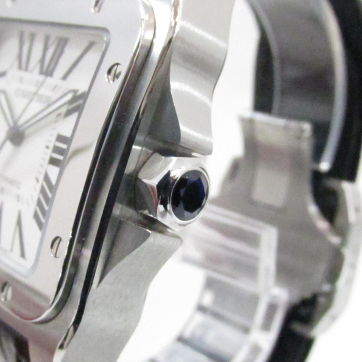 7aa86f071ebd (Free shipping) Auth Cartier Santos 100 watch W 20077 X 8 Automatic  Stainless steel (SS) Used