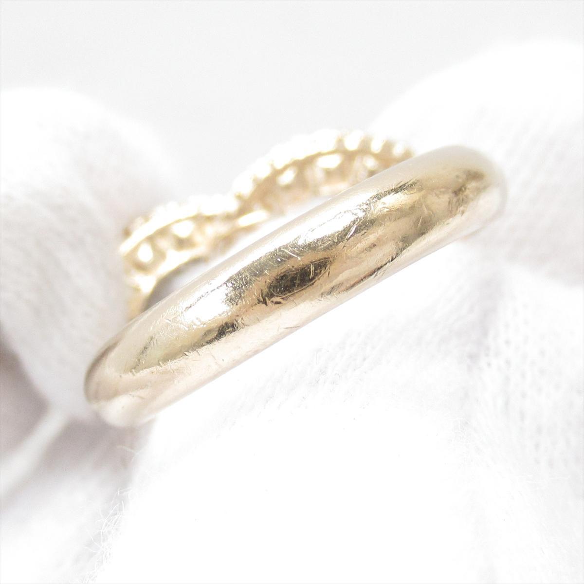 067d903210e7 ... シャネルココマークリング指輪A16VアクセサリーレディースGPxラインストーンゴールド ...