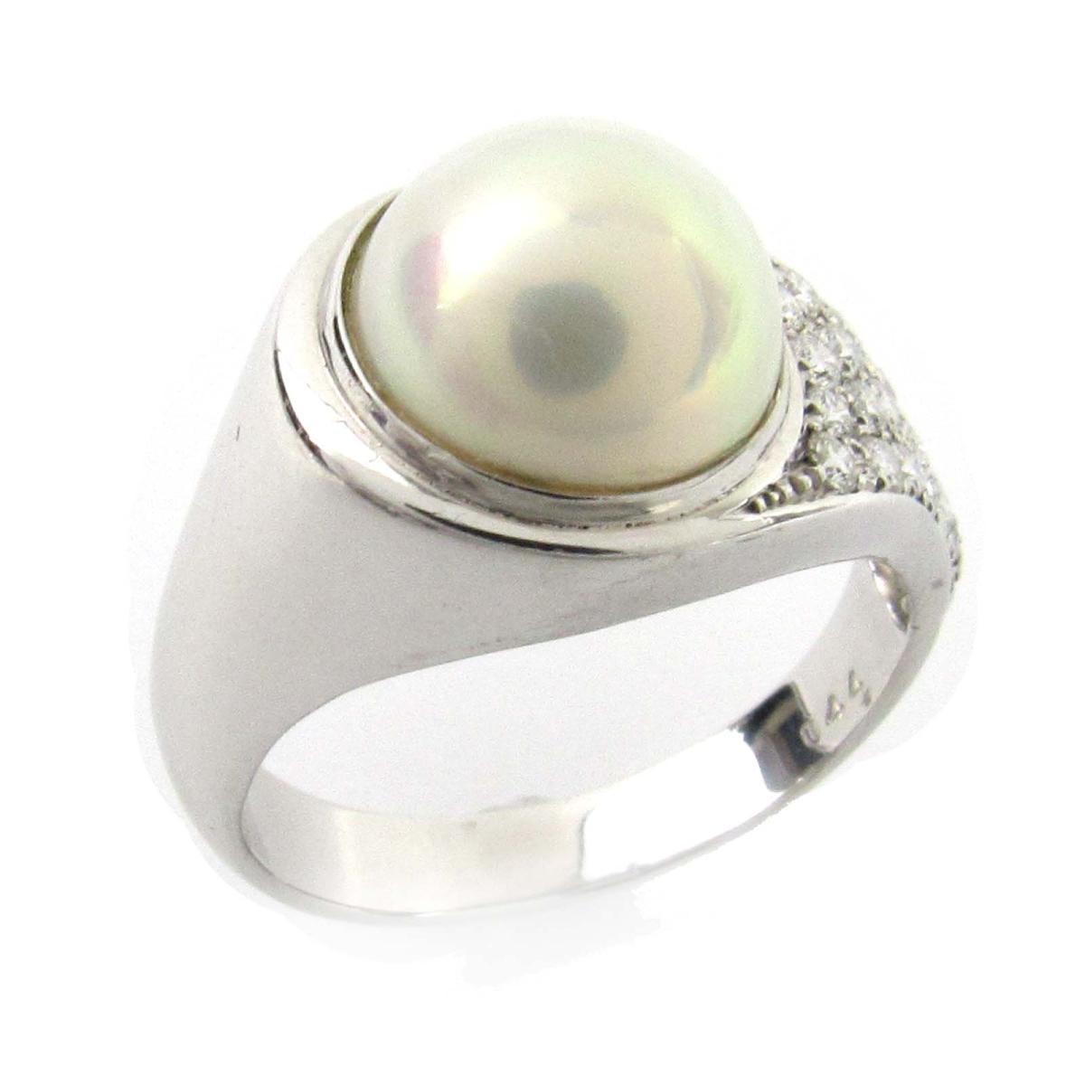 【中古】ジュエリー マペパール ダイヤモンド リング 指輪 ノーブランドジュエリー レディース PT900 プラチナxパール10.7mmxダイヤモンド0.44ct   JEWELRY BRANDOFF ブランドオフ アクセサリー