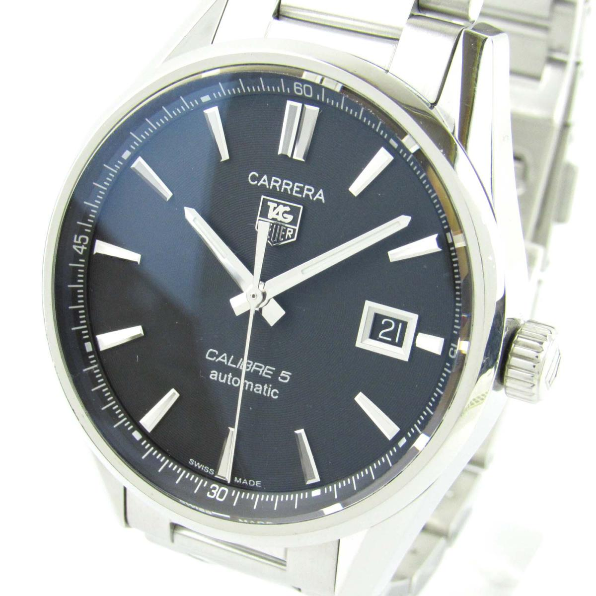 Tag Carrera Watch >> Auth Tag Heuer Carrera Watch War 211 A Automatic Stainless Steel Ss Used Brandoff Ginza Tokyo Japan